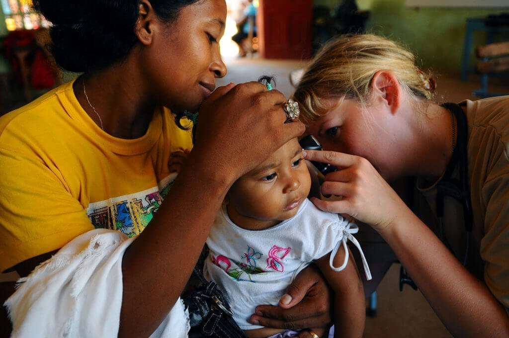 childhood diseases - ear infection